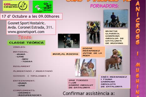Curs d'iniciació al Canicross, bikejoring i mushing